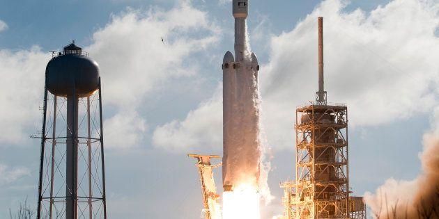 Image d'un lancement de SpaceX le 6 février