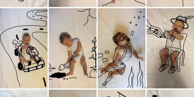 Pour son premier anniversaire, ce bébé a reçu un montage photo vraiment adorable de sa