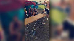 Les acrobaties sur une table, pas une bonne