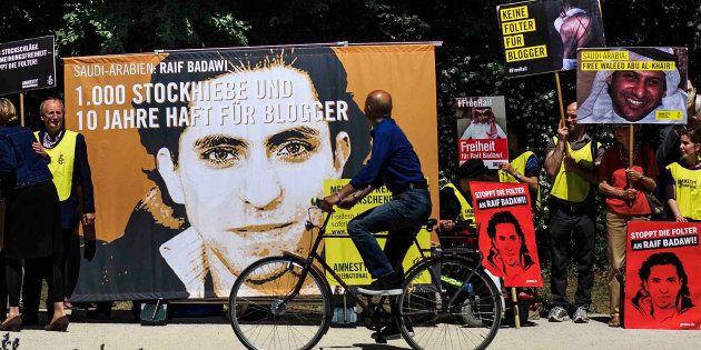 Manifestation pour Raif Badawi, Berlin, juin