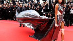 La Canadienne Winnie Harlow fait son effet sur le tapis rouge de