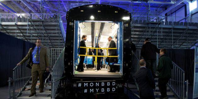 Photo d'archives d'un train Azur qui a été construit par