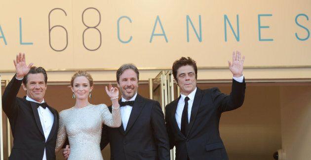 Josh Brolin, Emily Blunt, Denis Villeneuve et Benicio Del Toro à Cannes en