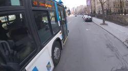 La STM a rencontré le chauffeur d'autobus qui a frôlé un