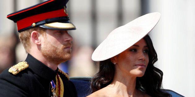 Le prince Harry et sa nouvelle épouse ont participé à la cérémonie du «salut aux couleurs», le 9 juin