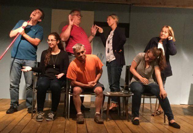 Les comédiens de la troupe «Les Cabochons».