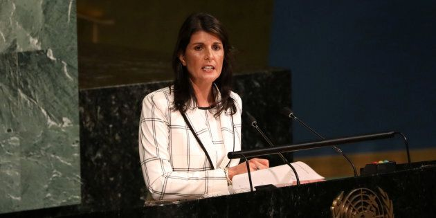 Photo d'archives de Nikki Haley, l'ambassadrice des États-Unis à