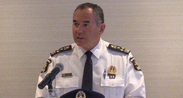 Robert Pigeon, directeur du Service de police de la Ville de Québec.