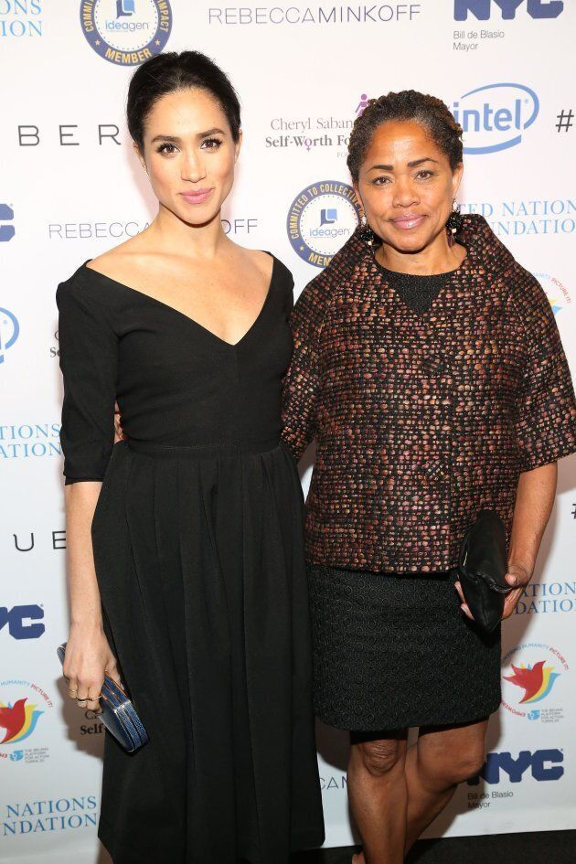 Meghan Markle and Doria Ragland at a UN Women's event in New York City on March 10, 2015.