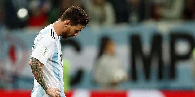 Lionel Messi avait la mine basse après le deuxième but des