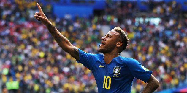 Neymar a inscrit le deuxième but de son équipe dans la