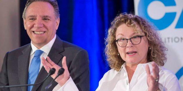 François Legault accueille Marguerite Blais, ex-ministre libérale, dans ses