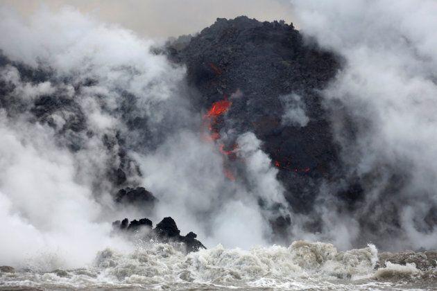 Un nuage d'acide chlorhydrique dans le ciel d'Hawaï, dernier cadeau du volcan