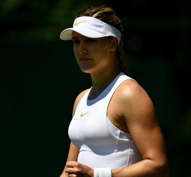 Eugenie Bouchard gagne à Wimbledon... mais c'est son entrevue d'après-match qui retient