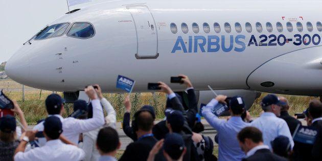 Airbus a dévoilé son modèle A220-300 le 10 juillet