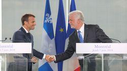 Michaëlle Jean à l'OIF: Couillard et Macron parlent de défis de