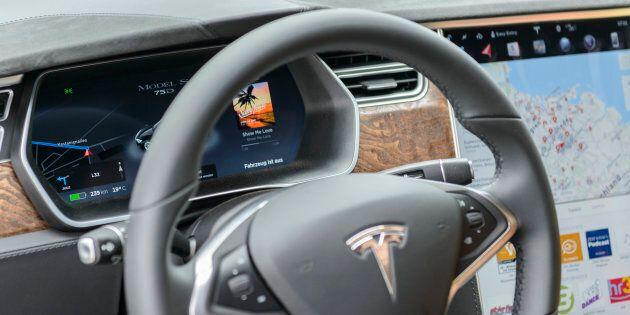 L'intérieur d'une Tesla Model S