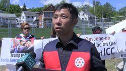 Des Nord-Coréens manifestent contre la rencontre