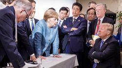 Cette photo d'Angela Merkel au G7 est devenue