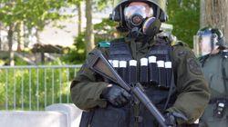 G7: Moins de manifestants à Québec en raison de la forte présence