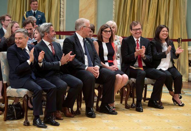 Francois-Philippe Champagne, Pablo Rodriguez, Bill Blair, Filomena Tassi, Jonathan Wilkinson et Mary