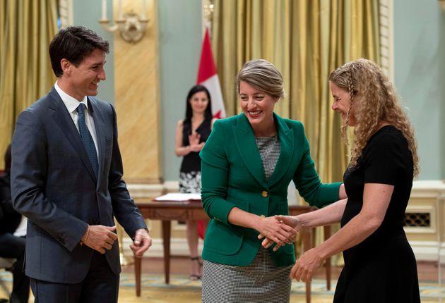 Justin Trudeau, Mélanie Joly et Julie