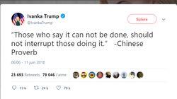 Ivanka Trump a tweeté un proverbe chinois... qui n'existe