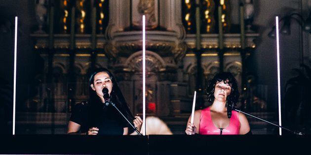 Milk & Bone se produisait dans la chapelle de la Maison Mère, jeudi soir, au Festif! de