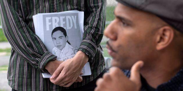 Le militant Will Prosper à proximité du parc où Fredy Villanueva a été atteint par les balles d'un policier...
