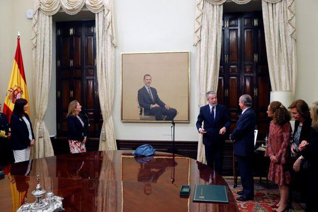 El Congreso coloca un retrato oficial del Rey que ha costado 88.000