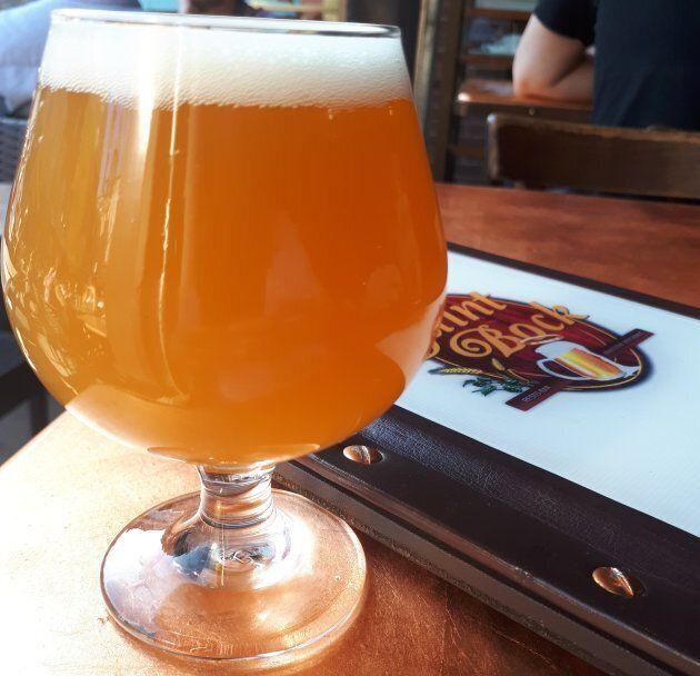 La «Pot pas d'pot» est l'une de six bières infusées au cannabis qui ont été offertes par la Brasserie Saint-Bock, à Montréal, ce printemps.