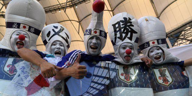 Les fans japonais étaient très enthousiastes pour le match contre la Pologne,