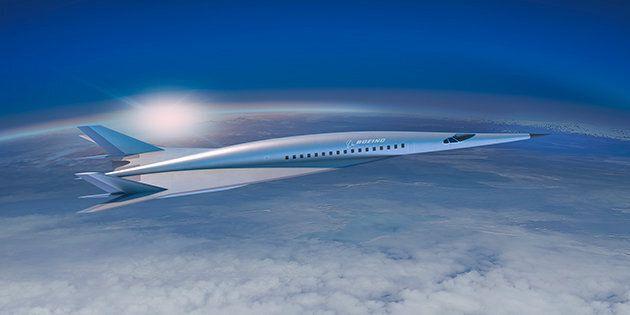 La première esquisse de cet avion supersonique de