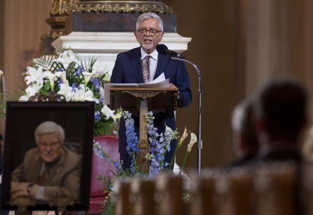 François Gérin-Lajoie, le fils de Paul Gérin-Lajoie, a livré un discours émouvant lors de la