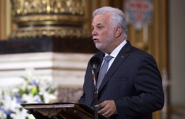 Le premier ministre du Québec, Philippe Couillard, a pris la parole durant la