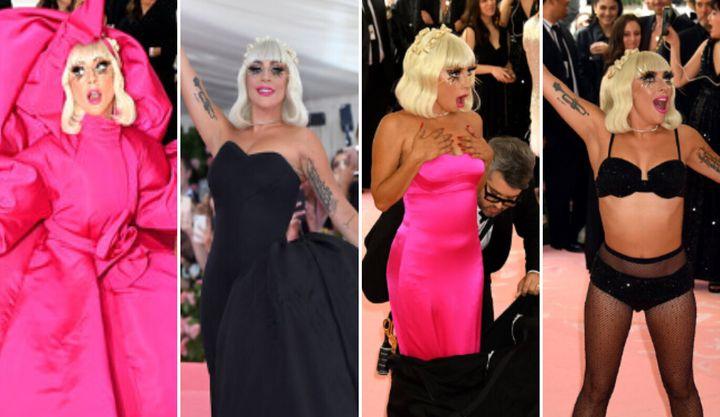 Lady Gaga in her various incarnations at the 2019 Met Gala