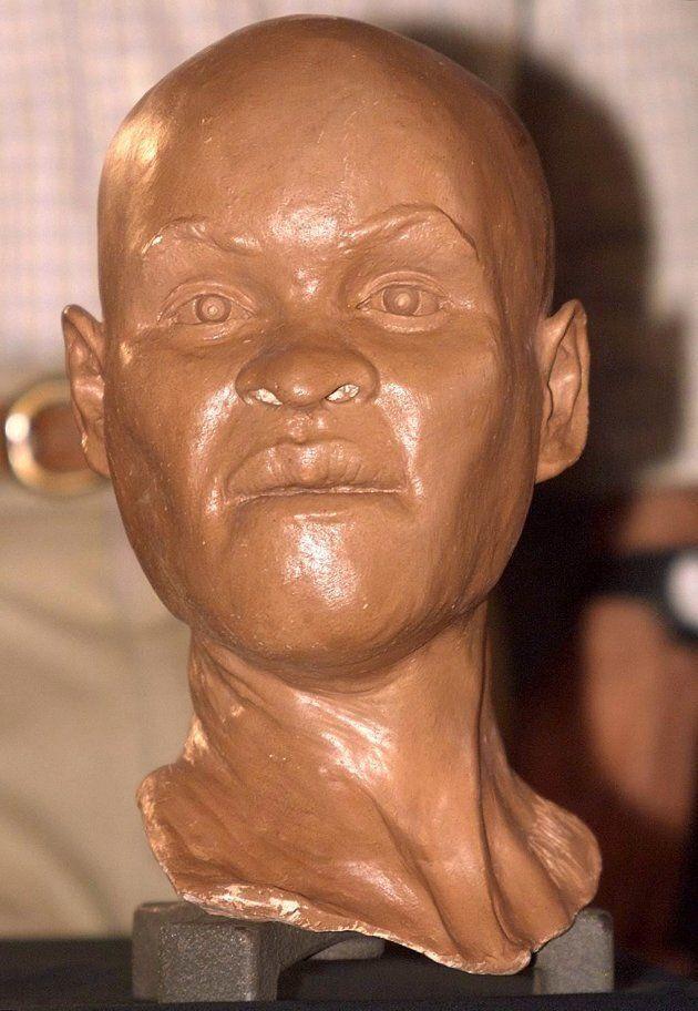 Reconstitution de la tête de Luzia, la plus vieille brésilienne antique