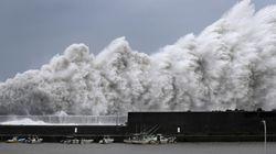 Des images saisissantes de Jebi, le plus violent typhon à frapper le Japon en 25