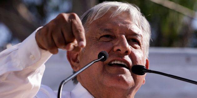 Andrés Manuel López Obrador, en avril