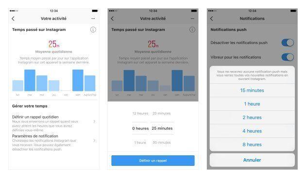 Facebook et Instagram proposent un tableau de bord pour gérer votre temps