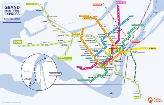38 nouvelles stations de métro au menu du projet de mobilité de Québec