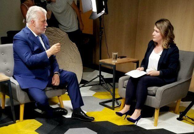 Le chef libéral Philippe Couillard était dans nos bureaux pour notre série d'entrevues avec les chefs.