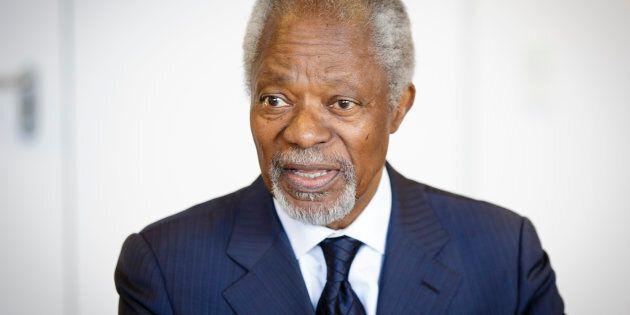 L'ancien secrétaire général de l'ONU Kofi Annan est