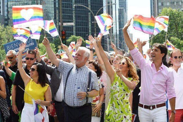 De nombreux élus sont venus appuyer la communauté LGBTQ à Montréal,