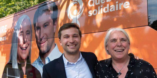 Gabriel Nadeau-Dubois et Manon Massé ont lancé la campagne de Québec solidaire dans la circonscription de Laurier-Dorion à Montréal.