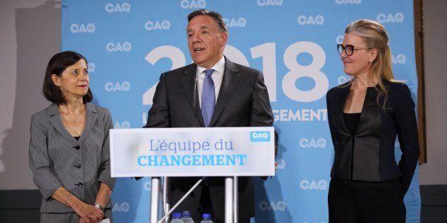 Danielle McCann, François Legault et MarieChantal
