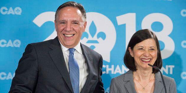 Francois Legault et Danielle