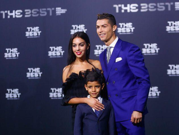 Le sportif avec sa femme Georgina Rodriguez et son