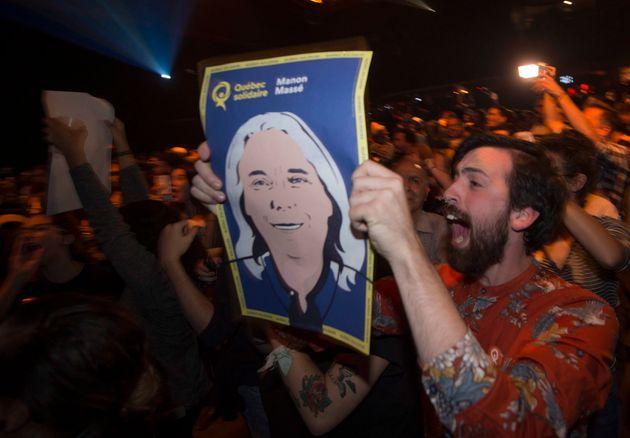 Les partisans de Québec solidaire ont célébré les gains du
