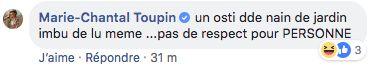 Marie-Chantal Toupin ne mâche pas ses mots en parlant d'Éric